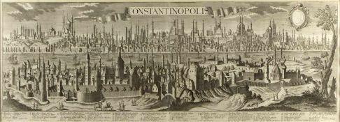 Probst, Johann Friedrich. 1721 - Augsburg - 1781Panorama von Konstantinopel. Radierung. 36 x 103,5