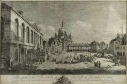 Bellotto gen. Canaletto, Bernardo. 1721 Venedig - Warschau 1780Perspective de la Façade de la