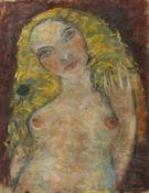 Malskat, Lothar. 1912 Ostpreußen - Lübeck 1988Weiblicher Halbakt. Pastell. Sign. 58 x 45 cm.