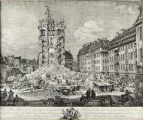 Bellotto gen. Canaletto, Bernardo. 1721 Venedig - Warschau 1780Vue des Débris de la Tour de Ste.