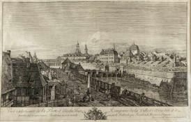 Bellotto gen. Canaletto, Bernardo. 1721 Venedig - Warschau 1780Vue exterieure de la Porte d'