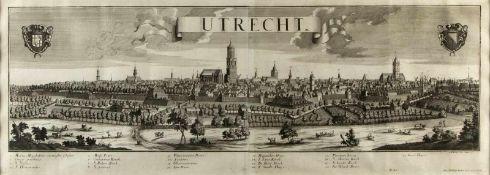 Probst, Johann Friedrich. 1721 - Augsburg - 1781Utrecht. Radierung. In der Platte bez. 35 x 100 cm.