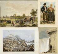 Dekorative GraphikPortraits. Landschaften. Ansichten versch. Städte u.a. Ca. 280 Bll. versch. Techn.
