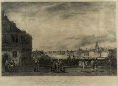Heister, F. Nach Morgenstern Ansicht von Frankfurt a.M. Lithographie. In der Platte bez. 46,5 x 65