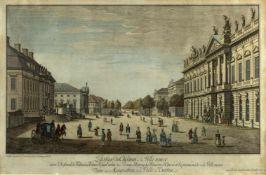 Rosenberg, Johann Georg. 1739 - Berlin - 1808Passage du Chateau à la Ville neuve Berlin. Kol.