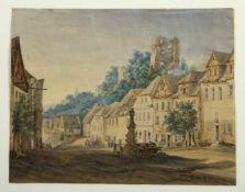 Simböck, J.Kraupen bei Maria Schein in Böhmen. Aquarell. Sign. und bet. 27 x 34 cm.- - -27.00 %
