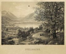 Deutsch, 19. Jh.Schliersee. Lithographie. 31,5 x 38,5 cm. Stark Besch.- - -27.00 % buyer's premium