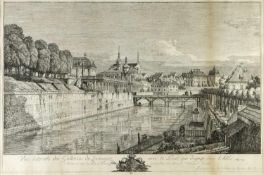 Bellotto gen. Canaletto, Bernardo. 1721 Venedig - Warschau 1780Vue laterale des Galleries du Zwinger