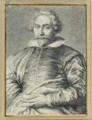 Schmidt, Georg Friedrich. 1712 - 1775. Zugeschrieben Brustbild eines Herren mit Bart.