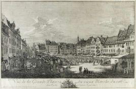 Bellotto gen. Canaletto, Bernardo. 1721 Venedig - Warschau 1780Vue de la Grande Place du vieux
