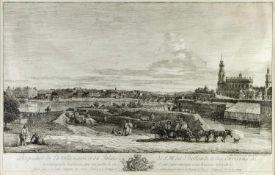 Bellotto gen. Canaletto, Bernardo. 1721 Venedig - Warschau 1780Perspective de la ville neuve du