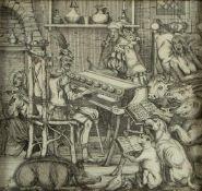 Hogarth, William. 1697 - 1764. Nach Konzert der Tiere. Radierung. 22,5 x 23,5 cm.- - -27.00 %