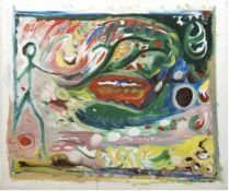 "Baker, Paul ""Expressive Szene mit Personenstaffage"", Öl/Lw., sign. u. dat. 1997 u.r.,72x83 cm"