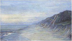 "Mimelbach, C. ""Hohes Ufer bei Wustrow"", Öl/Lw., um 1920, sign. u.r., 40x69 cm, Rahmen"
