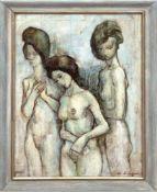 "Swan, Donald ""Drei Schwestern"", Öl/Hf., sign. u.r., rückseitig bez., 59x44,5 cm, Rahmen"
