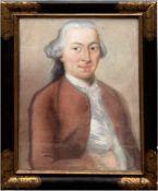 """Porträtmaler des 18. Jh., Paar Gegenstücke """"Bildnis einer Dame"""" und """"Bildnis einesHerren"""","""
