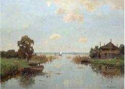 "Knikker, Jan (1889 Hillegom-1957 Den Haag) ""Holländische Polderlandschaft"", Öl/Mp., sign.u.r., 60x79"