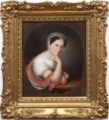 """Kreul, Johann Lorenz (1765-1840) """"Porträt einer Dame"""", Aquarell/ Mischtechnik/ Papier,sign. u.r.,"""