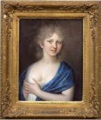 """Tischbein """"Porträt Prinzessin Friederike von Preußen"""", Pastell auf Ziegenleder, rücks.bezeichnet,"""