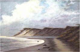 "Piper ""Ostseelandschaft"", Maler des 19. Jh., Öl/Mp., sign. u.r., 48x67 cm, Rahmen"
