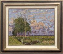 """Koepke, Robert (1893 Bremen-1968 St. Jürgen/ Worpswede) """"Bäume auf der Koppel"""", Öl/Mp.,sign. u.l.,"""