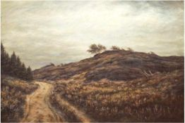 "Fabrielies, U. (19./20. Jh.) ""Dünenlandschaft"", Öl/Lw., sign. u.r., 60x85 cm, Rahmen"
