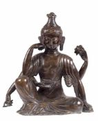 """Skulptur """"Avalokieschvara, der 6-armige Bodhisattva des Mitgefühls und derBarmherzigkeit"""", China/"""