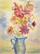 "Dunkelmann, Kurt (1906 Crivitz-1983 Ribnitz-Damgarten) ""Blumenstilleben"", Aquarell, ausdem"