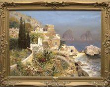 "Arnegger, Alois (1879 Wien-1963 Wien) ""Sommer auf Capri"", Öl/Lw., sign. u.l., 90x123 cm,Rahmen ("
