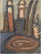 "Theegarten, Erwin (1904 Berlin-1979 ebenda) ""Abstraktes Stilleben"", Öl/ Holz, sign. u.l.,54,5x38,5"