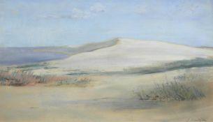 """Eisenblätter, Gerhard (1907-1975) """"Dünen an der Kurischen Nehrung"""", Pastell, signiertu.r., 27,5x45,5"""
