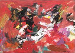 """Lorsch, Sandro von (1919 Hamburg-1992 Hamburg) """"Abstrakte Komposition"""", Öl/Lw., sign. u.dat. '66 u."""