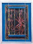 "Uloth, Ludwig (1910 Kasssel- 2001 ebenda) ""Installation im Raum"", Öl/ Holz mitaufgesetzten"