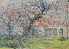 """Saverys, Albert (1886 Deinze- 1964 Petegem) """"Landschaft"""", sign., bez. und dat.'14, Öl/Mp.,28x38"""