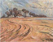 """Landschaftsmaler des 19./20. Jh. """"Landschaft mit Bauerngehöft"""", Öl/Lw., undeutl. sign.u.r., 57x69"""