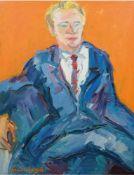 """Lorsch, Sandro von (1919 Hamburg-1992 Hamburg) """"Porträt eines Mannes"""", Öl/Lw., sign. u.l.,110x85 cm,"""