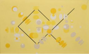"Dahncke, W. ""Abstrakte Komposition"", Öl/lw., rücks. sign. u. dat. '66, 59x92 cm, Rahmen"