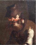 """Altmeister des 17./18. Jh. """"Porträt eines bärtigen Mannes mit Hut"""", Öl/Lw. auf"""