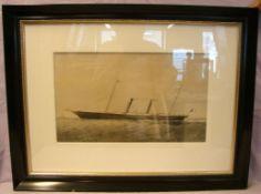 """Paar Kupferdrucke, """"Segelschiffe"""", aufwendige Rahmen, Außenmaße 58/54 x 70 cm"""
