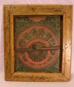 Carlender Astrolabio, im Holzrahmen, ca. 18 x 22 cm