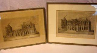 """4 Stahlstiche, """"Kölner Dom"""" (1848, 1854, 1860, 1851)"""