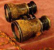 Fernglas, Fa. Glaser, Lederummantelung, starke Gebrauchsspuren