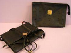 MCM Handtasche und kl. Aktentasche, schwarz, Visetos Serie, wenig benutzt- - -22.00 % buyer's