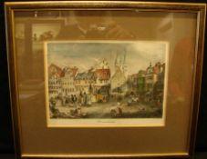 """Grafik/Stich, """"Stadtansicht Braunschweig"""", ca. 28 x 22 cm- - -22.00 % buyer's premium on the"""