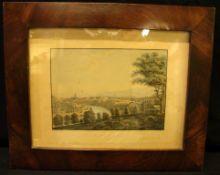 """Ansicht auf Bern"", Aquatinta, coloriert, um 1835, ca. 21 x 27 cm- - -22.00 % buyer's premium on the"