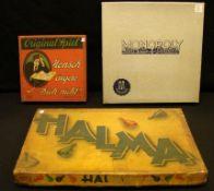 3 Spiele in orig. Kartons; Mensch ärgere Dich nicht, Halma, Monopoli, vor 1950- - -22.00 % buyer's