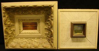 Paar Acrylbilder im Rahmen, neuzeitlich, ca. 7x4, 4x4 cm- - -22.00 % buyer's premium on the hammer