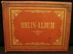 Rhein-Album mit zahlreichen Stichen, Stockflecken- - -22.00 % buyer's premium on the hammer