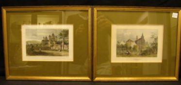 Paar Stahlstiche, Eifel, verschiedene Landschaftsdarstellungen, ca. 13 x 18 cm- - -22.00 % buyer's