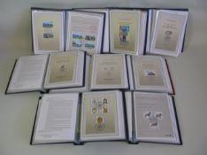8 Mappen mit ca. 400 Ersttagsblättern mit Sonderpostwertzeichen, 1987/89/90/91/92/93/94/95.- - -19.